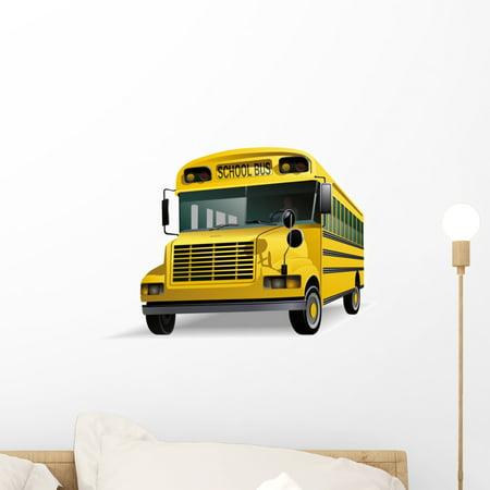 School Bus Wall Decal Mural by Wallmonkeys Vinyl Peel and Stick Graphi
