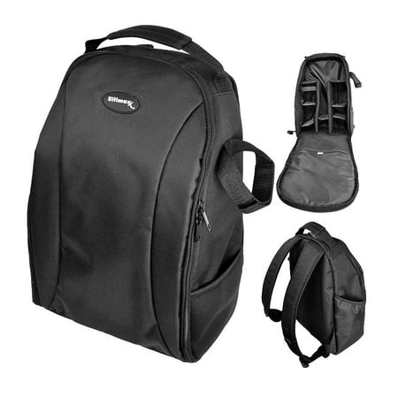 Nikon Camera Backpacks - Ultimaxx Water Resistant Professional DSLR Camera Backpack with Customizable Accessory Dividers for Canon, Nikon, Sony, Olympus, Samsung, Panasonic, Pentax models.