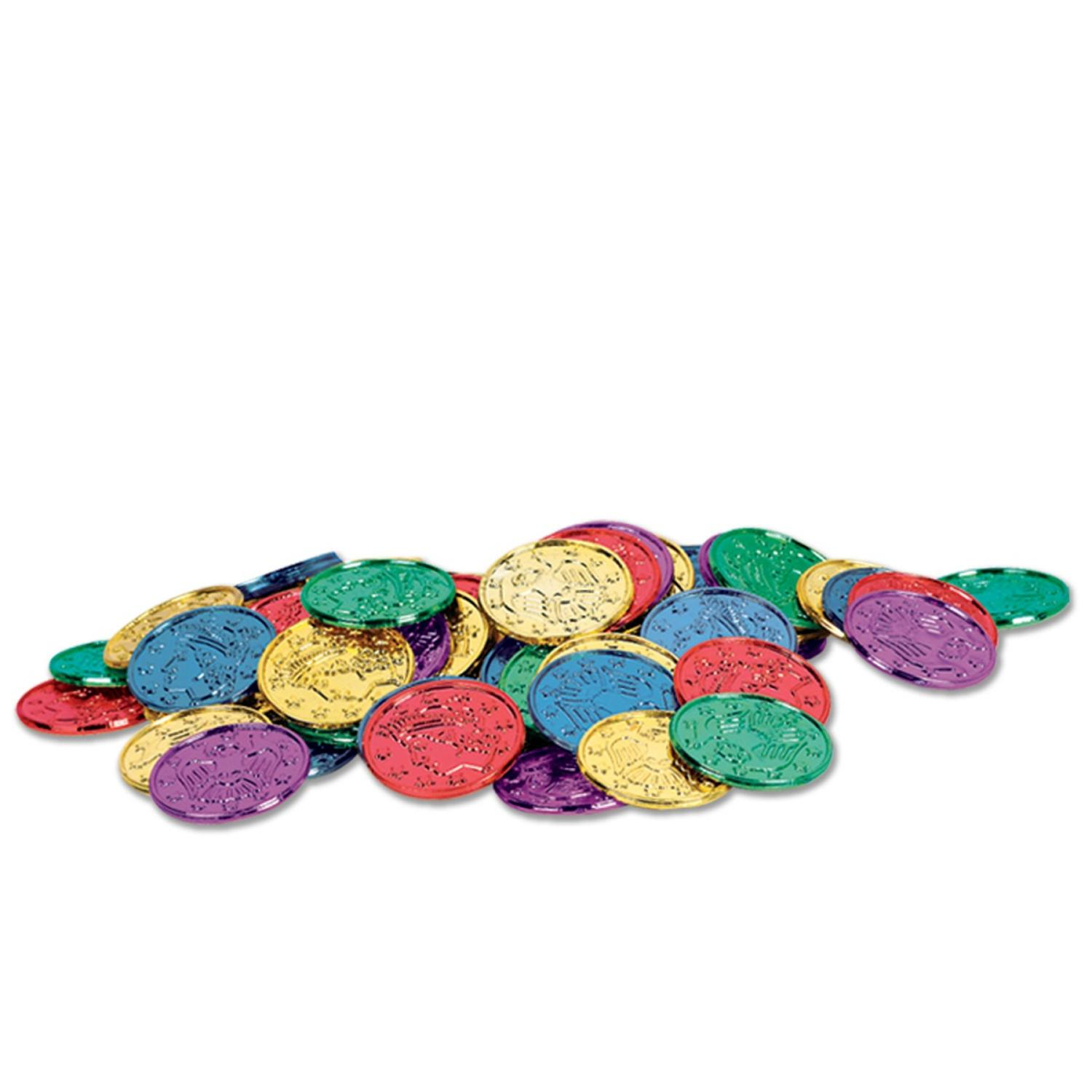Club Pack of 1200 Multi-Colored Pirate Coin Party Favors 1.5''