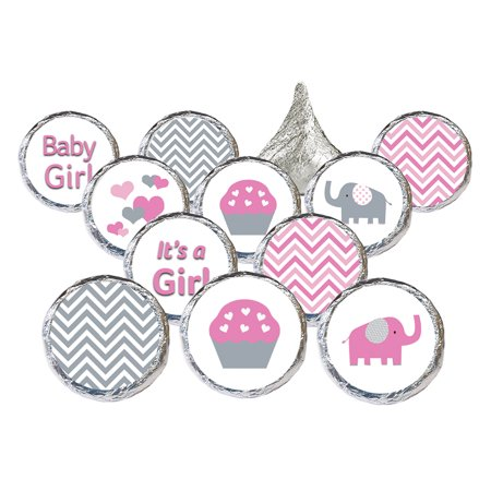Girl Elephant Baby Shower Stickers, 324ct - Pink Elephant Baby Shower Decorations Little Peanut Girl Baby Shower Favors - 324 Count Stickers for $<!---->