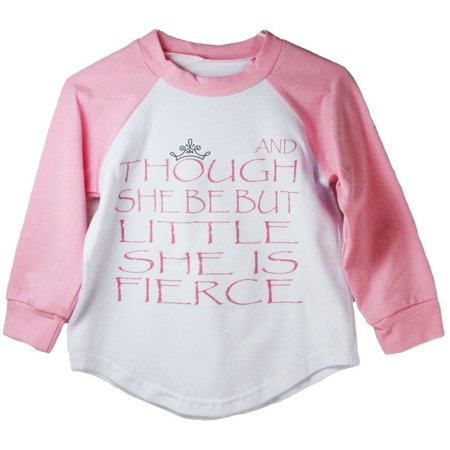 Cute Halloween Quotes Baby (Girls Pink Shakespeare Quote Print Cotton Spandex Raglan)