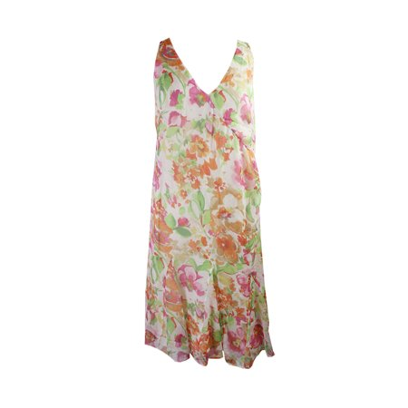 Lauren Ralph Lauren  Multi Georgette Surplice Dress 16 - M&m Dress Up