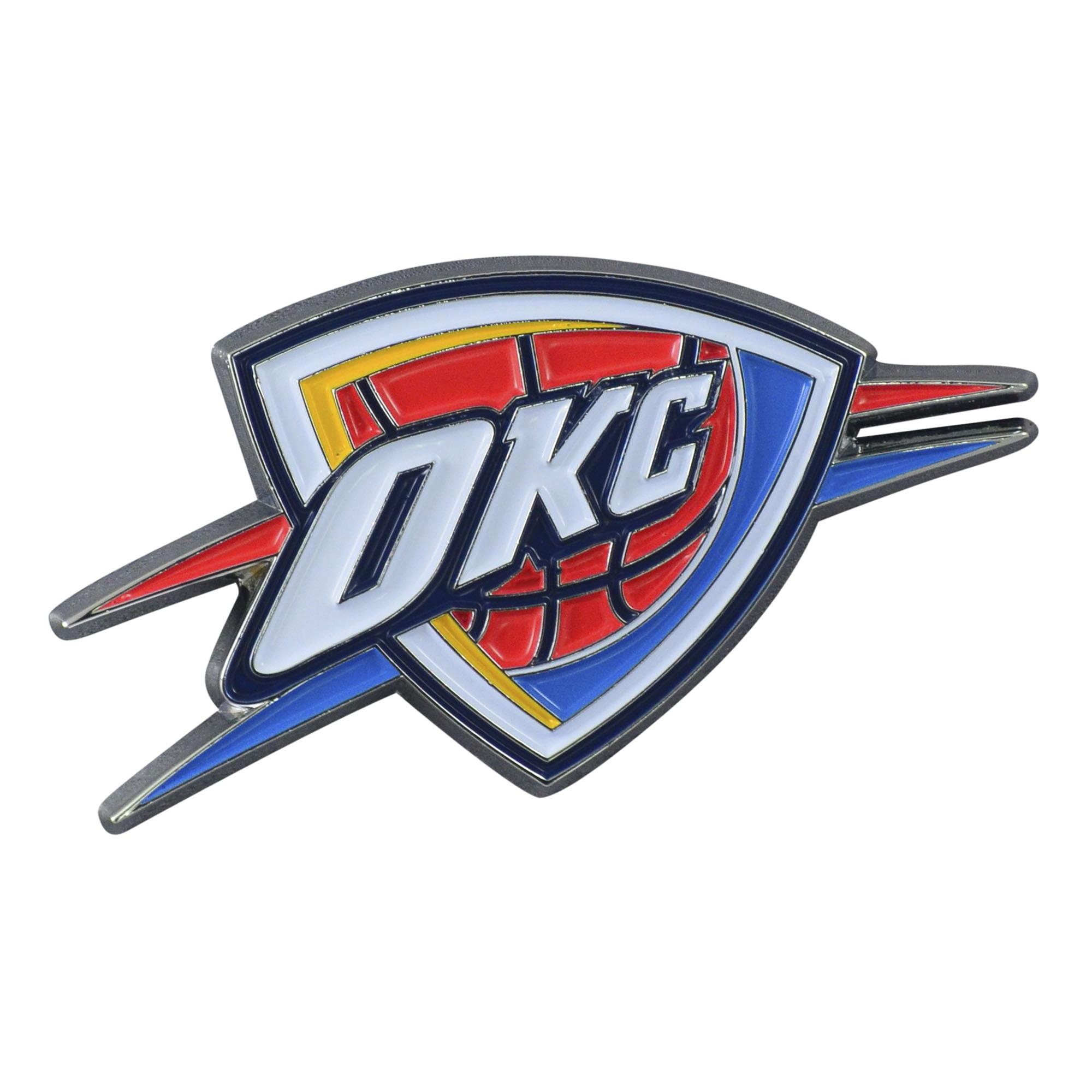 "Oklahoma City Thunder Color Emblem 1.8""x3.2"""