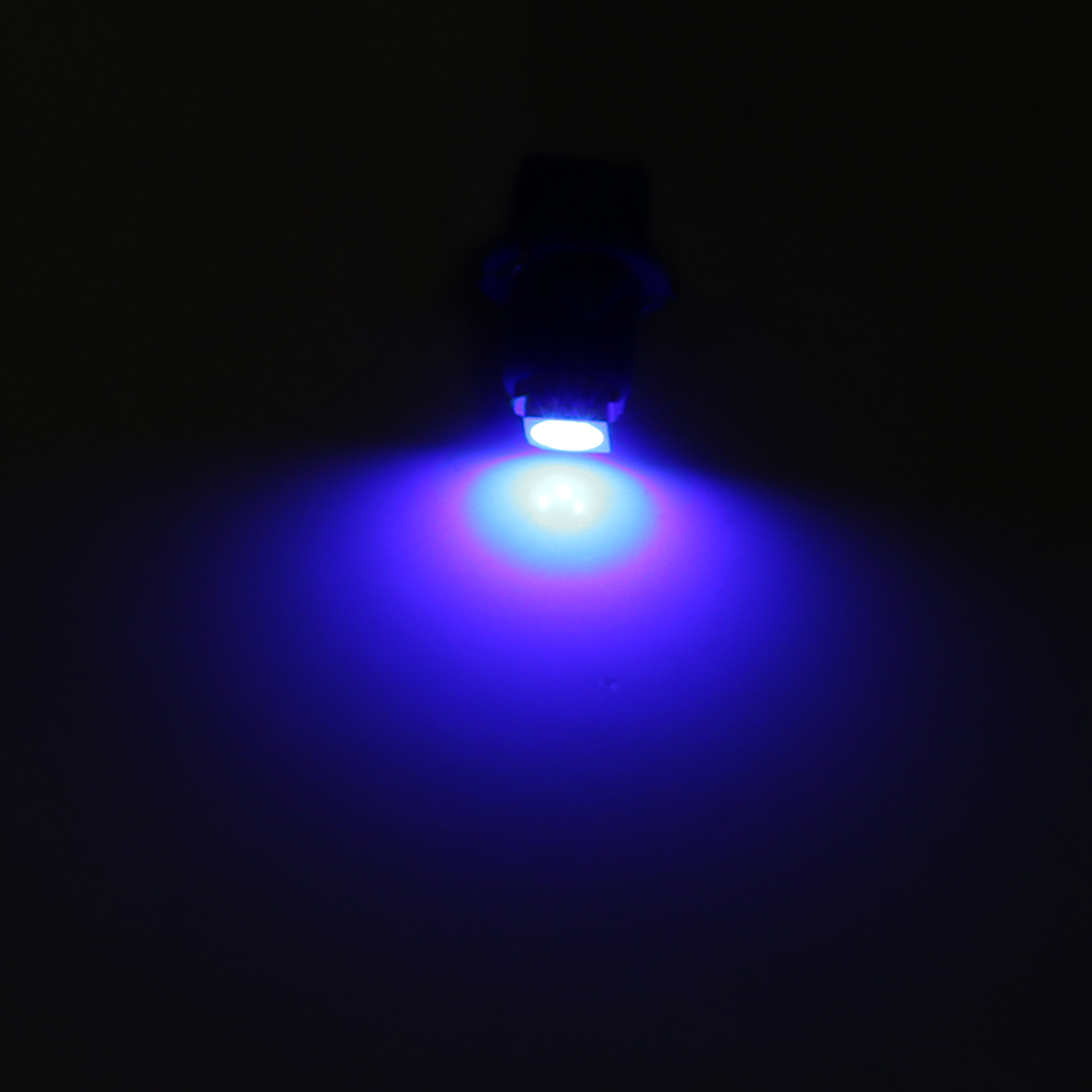 6pcs T5 LED Bulb Light 5050 SMD Car Instrument Cluster Blue Lamp Interior DC 12V - image 2 de 4