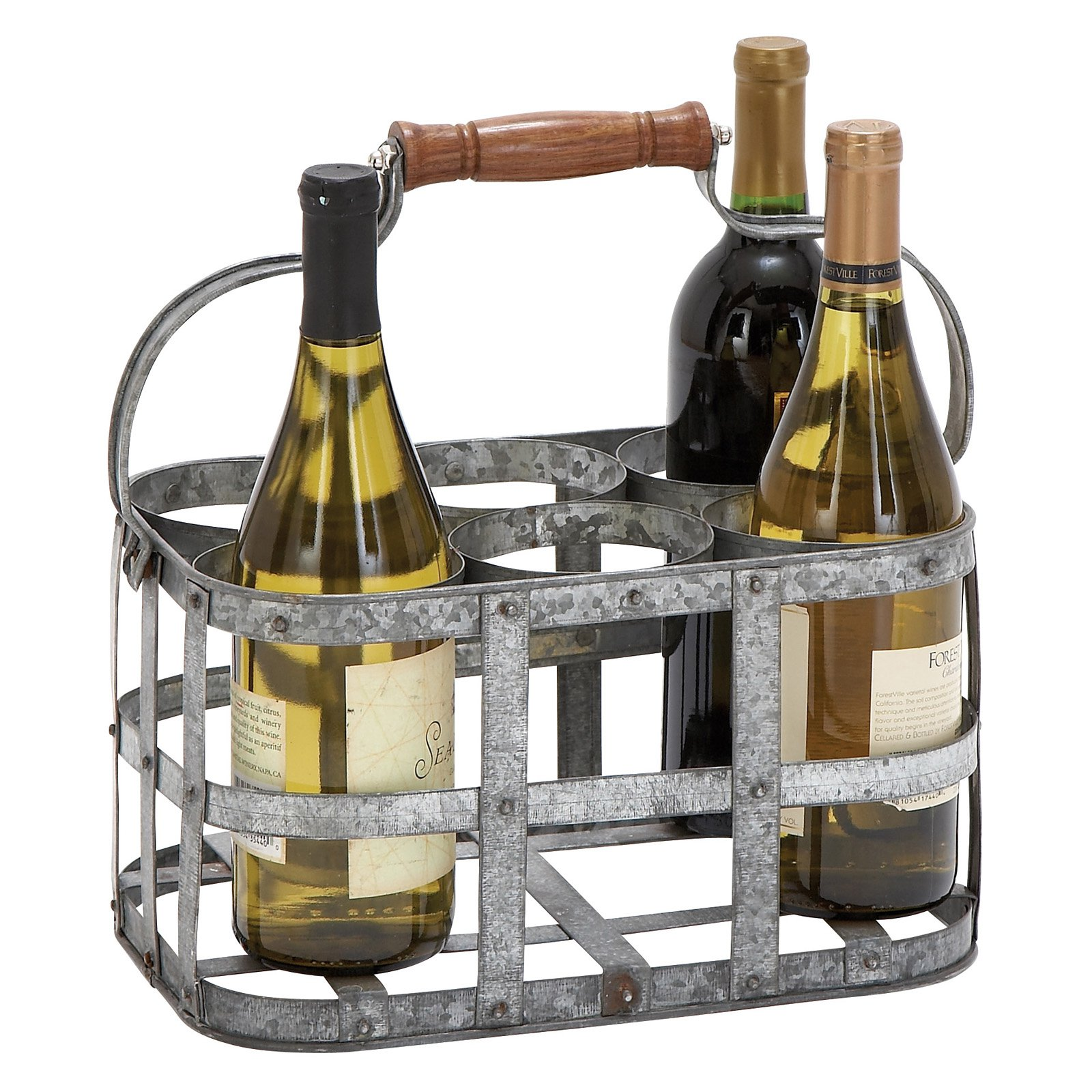 Woodland Imports Carmalina Metal Wall 5 Bottle Wine Cradle Rack