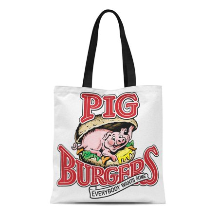 ASHLEIGH Canvas Tote Bag Better Pig Burgers Everybody Wants Off Dead Two Dollars Reusable Handbag Shoulder Grocery Shopping