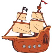 Popular Colorful Pirate Ship Wall Decals - Boys Room Pirates Ships Kids Decor Sticker Room Decoration for Bedroom Nursery Kindergarten - Childrens Vinyl Wall Art Stickers Boy Designs Size (40x40 inch)