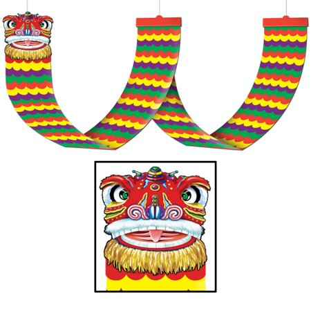 Pack of 6 Asian Dragon Chinese New Year Hanging Ceiling Party Decorations 12' for $<!---->