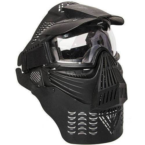 ALEKO PBM225BK Army Military Anti-Fog Paintball Mask with Double Elastic Strap, Black