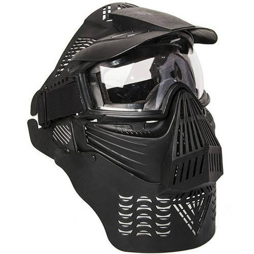 ALEKO PBM225BK Army Military Anti-Fog Paintball Mask with Double Elastic Strap, Black