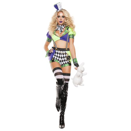 Tipsy hatter Adult Costume - - Deluxe Tea Party Hatter Costume