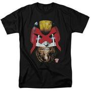 Judge Dredd Dredd's Head Mens Short Sleeve Shirt