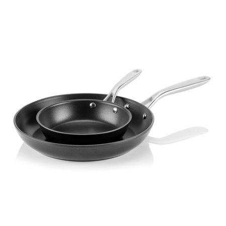 TECHEF - Onyx Collection, 8-Inch and 12-Inch Frying Pan Set with New Teflon Platinum Non-Stick Coating (PFOA Free)