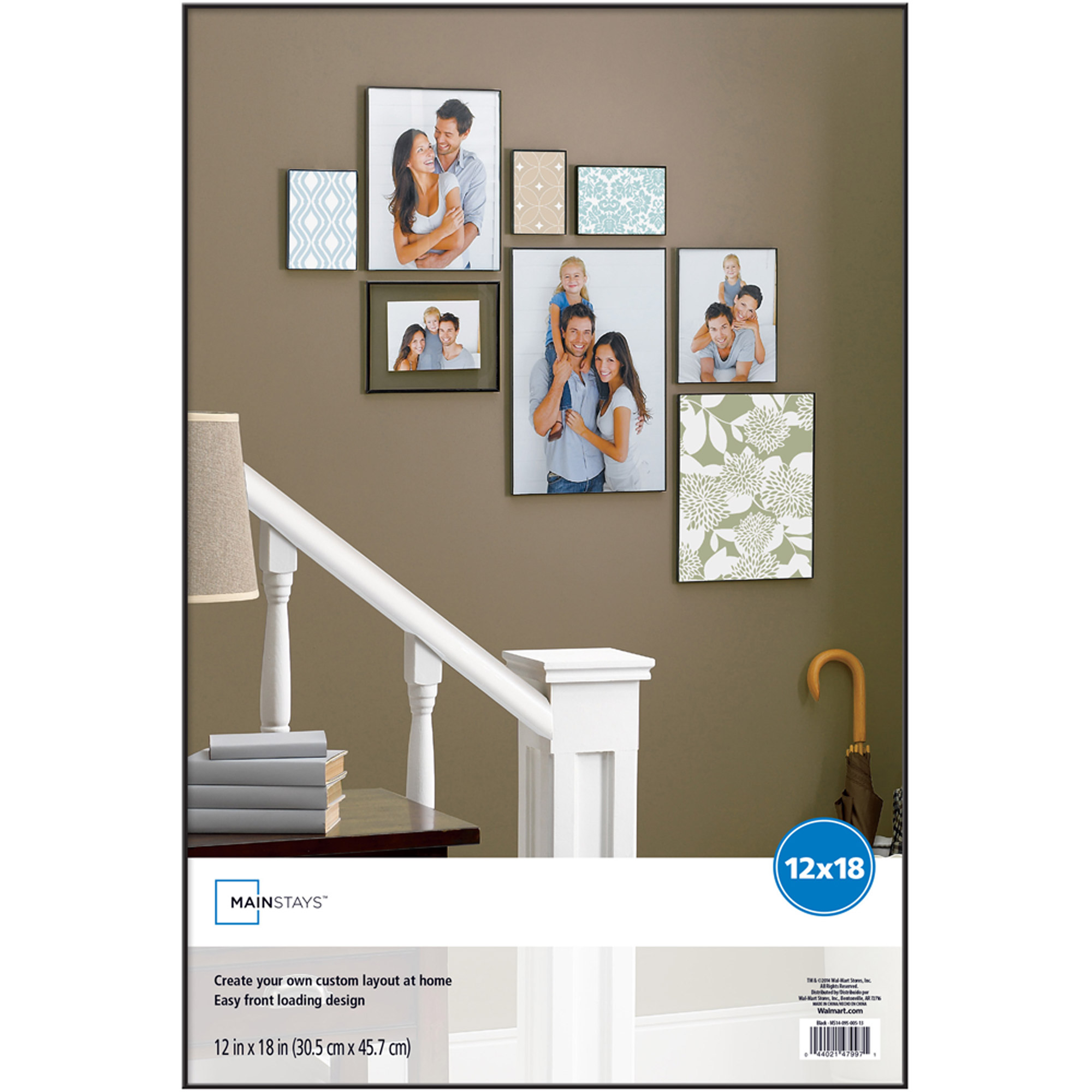 "Mainstays 12"" x 18"" Format Picture Frame, Black Finish"