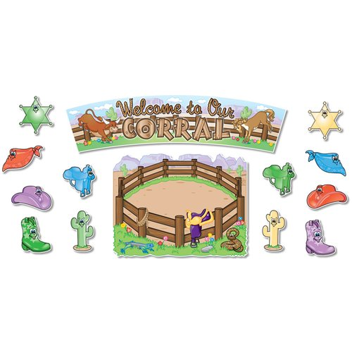 Northstar Teacher Resource Welcome to Our Corral Bulletin Board Cut Out Set