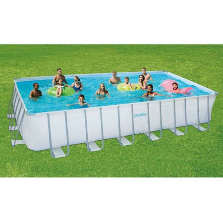 Summer waves elite 24 39 rectangular frame above ground - Summer waves pool ...