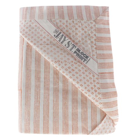 Jay St. Block Company West Elm Birra Cotton Striped Pillow Sham Orange Euro ()
