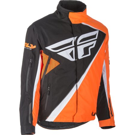 Fly Racing Orange/Black Snow Youth SNX Pro Jacket Size Youth Medium 407-4078YM
