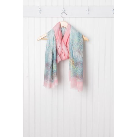 Monet Impressionistic Scarf, 40 x 70, 50% Poly Viscose; 10% Cotton, Multiple Colors - 70 And 80 Clothes