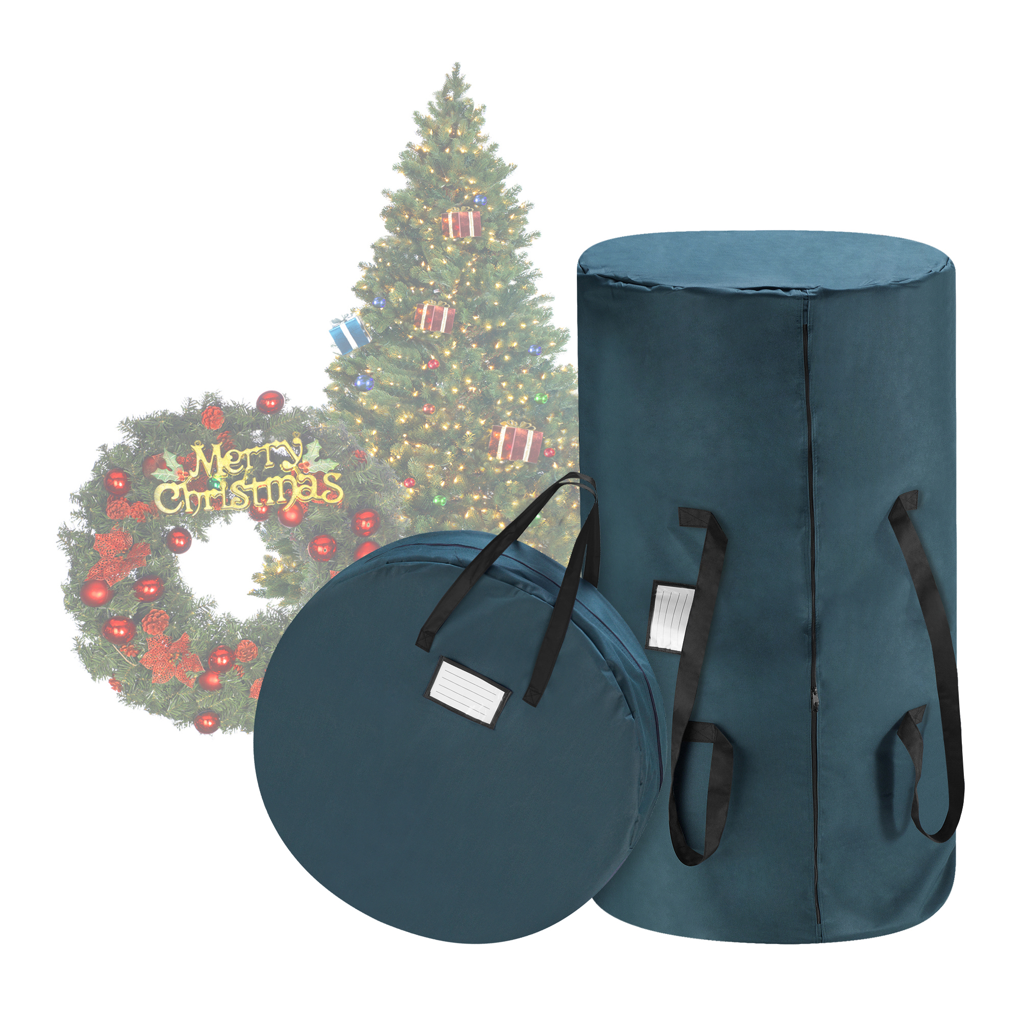 50x20x15 Polyester Artificial Tree Storage Bag with Dual Zippers and Sturdy Handles Green Lulu Home Christmas Tree Storage Bag Fits Up to 7 Ft Disassembled Xmas Trees