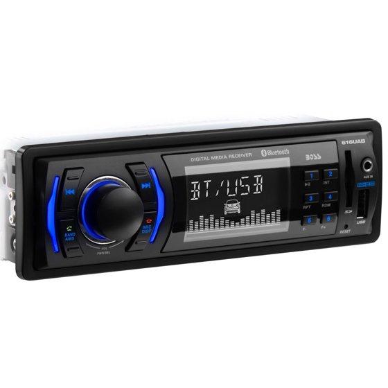 boss audio 616uab single-din mech-less multimedia player (no cd/dvd)  bluetooth - walmart com