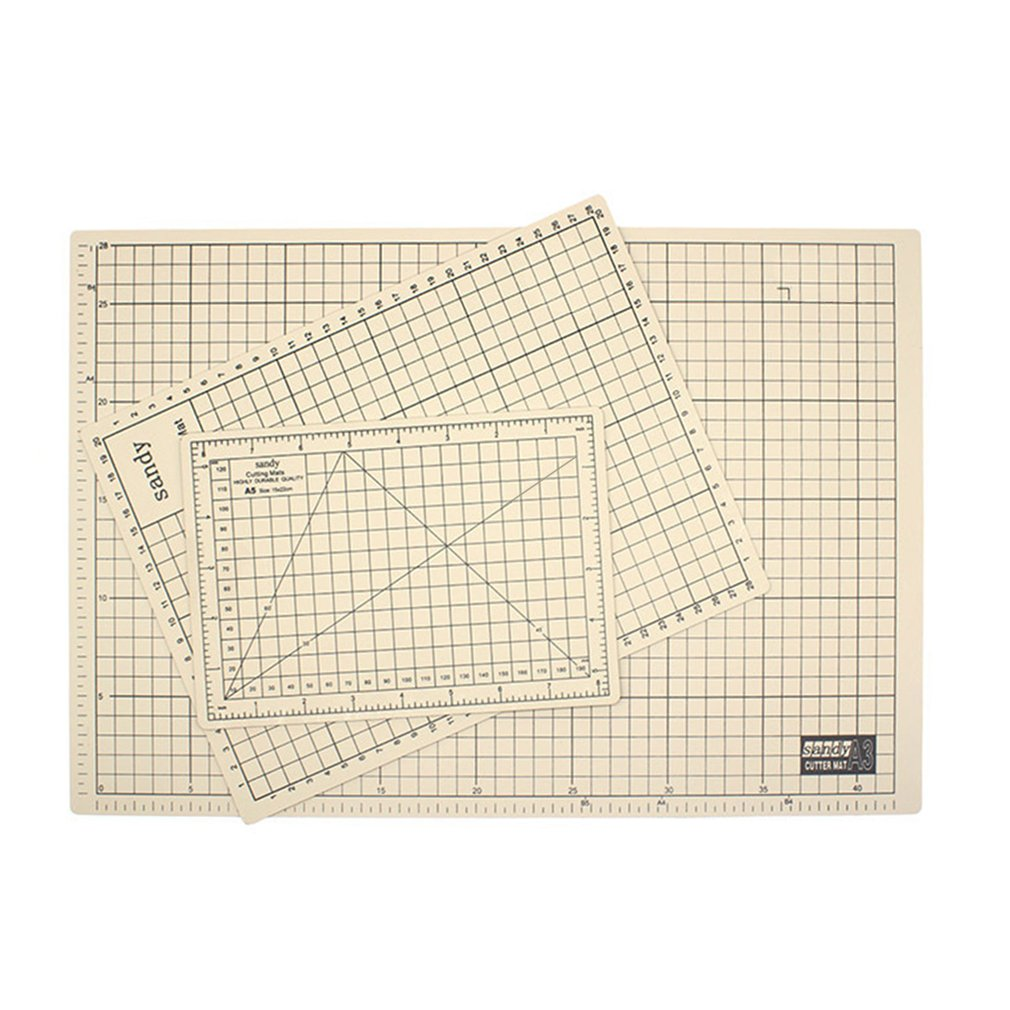 2018 New A3 PVC Sewing Cutting Mats Office Students Reversible Engraving Cutting Board,coffee & beige