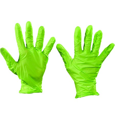 GLV2004S Green Best N-Dex Nitrile rubber Gloves - Accelerator Free - Small Made In USA CASE OF