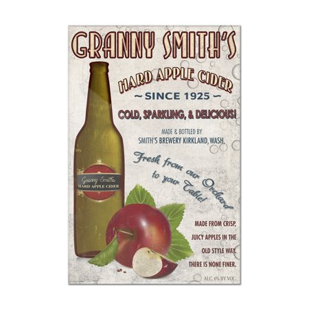 Granny Smith's Hard Apple Cider Vintage Sign - Lantern Press Artwork (8x12 Acrylic Wall Art Gallery - Hard Cider