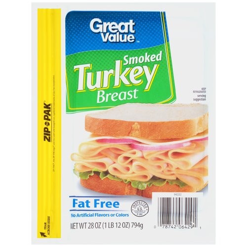 Great Value Smoked Turkey Breast, 28 oz