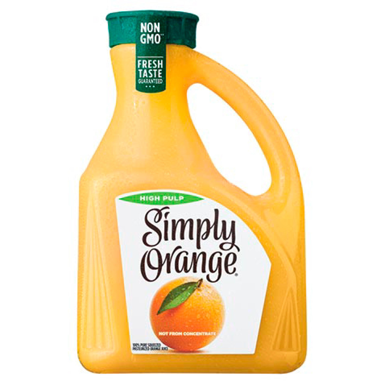 Simply Orange High Pulp Orange Juice, 2.63 Liters