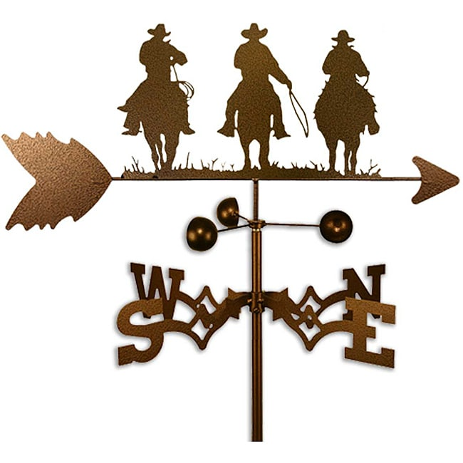 SWEN Products Inc Handmade Three Amigo Cowboys Weathervane by Overstock