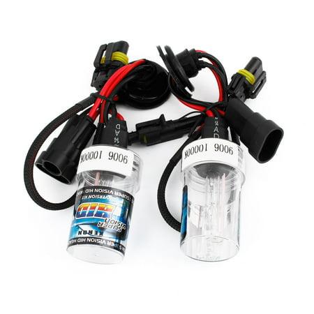 Unique Bargains 2PCS Automobile Car 9006 10000K Light HID Xenon Headlight Lamp Bulbs