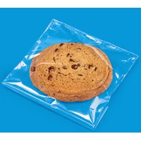 4 3/4x6 3/4 Resealable Cookie Packaging Cello Bags with Adhesive Closure -100Pack
