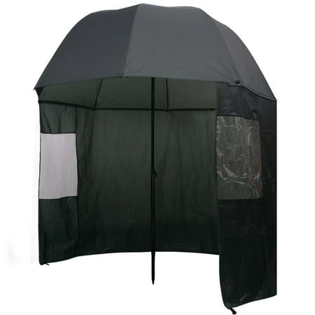 vidaXL Fishing Umbrella Green 118