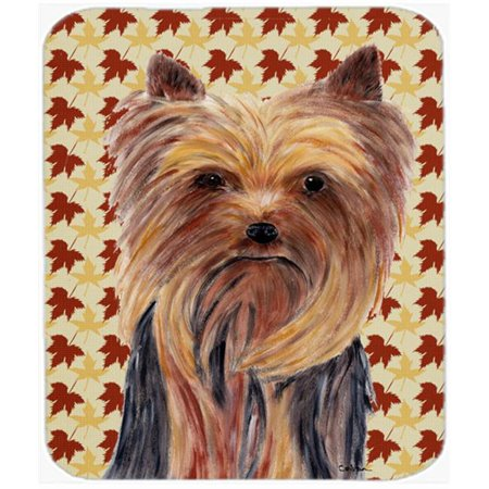Yorkie Fall Leaves Portrait Mouse Pad, Hot Pad or Trivet - image 1 of 1