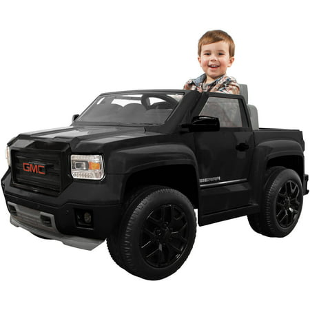 rollplay gmc sierra blackout series truck 6 volt battery. Black Bedroom Furniture Sets. Home Design Ideas