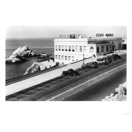 San Francisco, CA Cliff House and Seal Rocks Photograph - San Francisco, CA Print Wall Art By Lantern