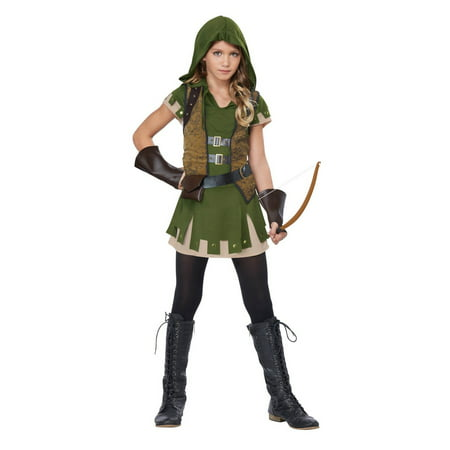 Girls Miss Robin Hood Halloween - Girl Green Lantern Costume