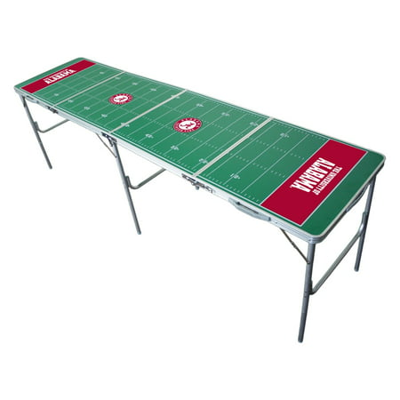 Tailgate Table 2 x 8 NCAA Texas Longhorns (3 In 1 Poker Table With Chairs)