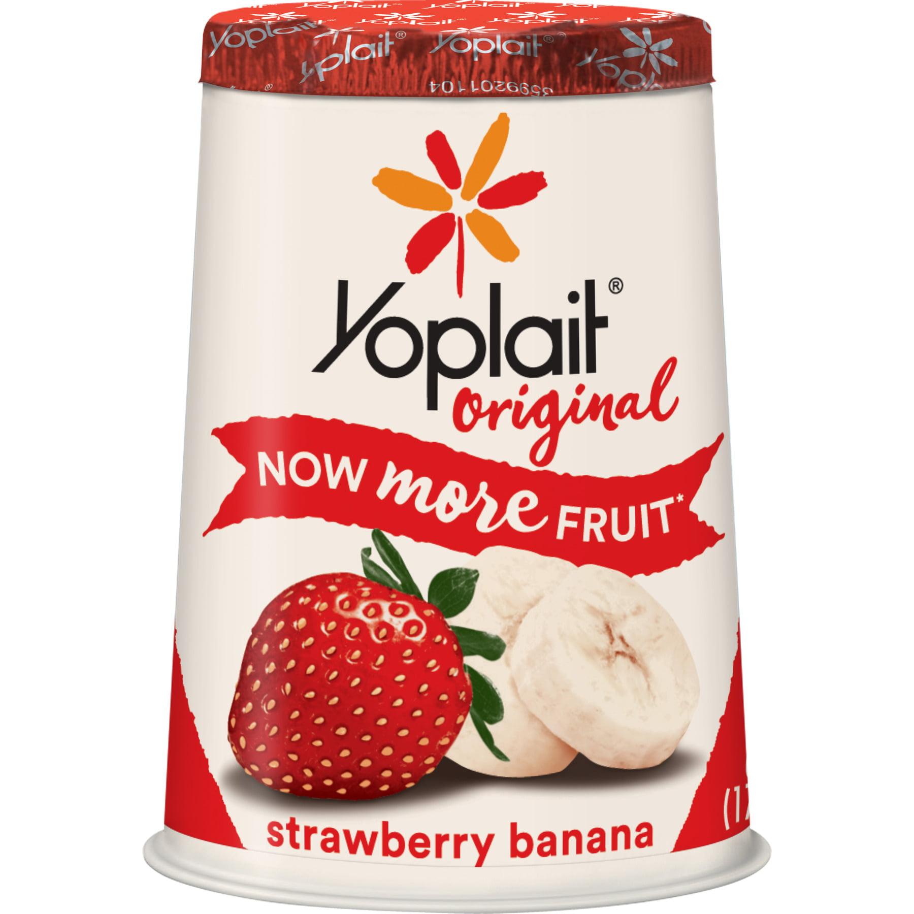 Yoplait Original Yogurt Strawberry Banana, 6 oz Cup