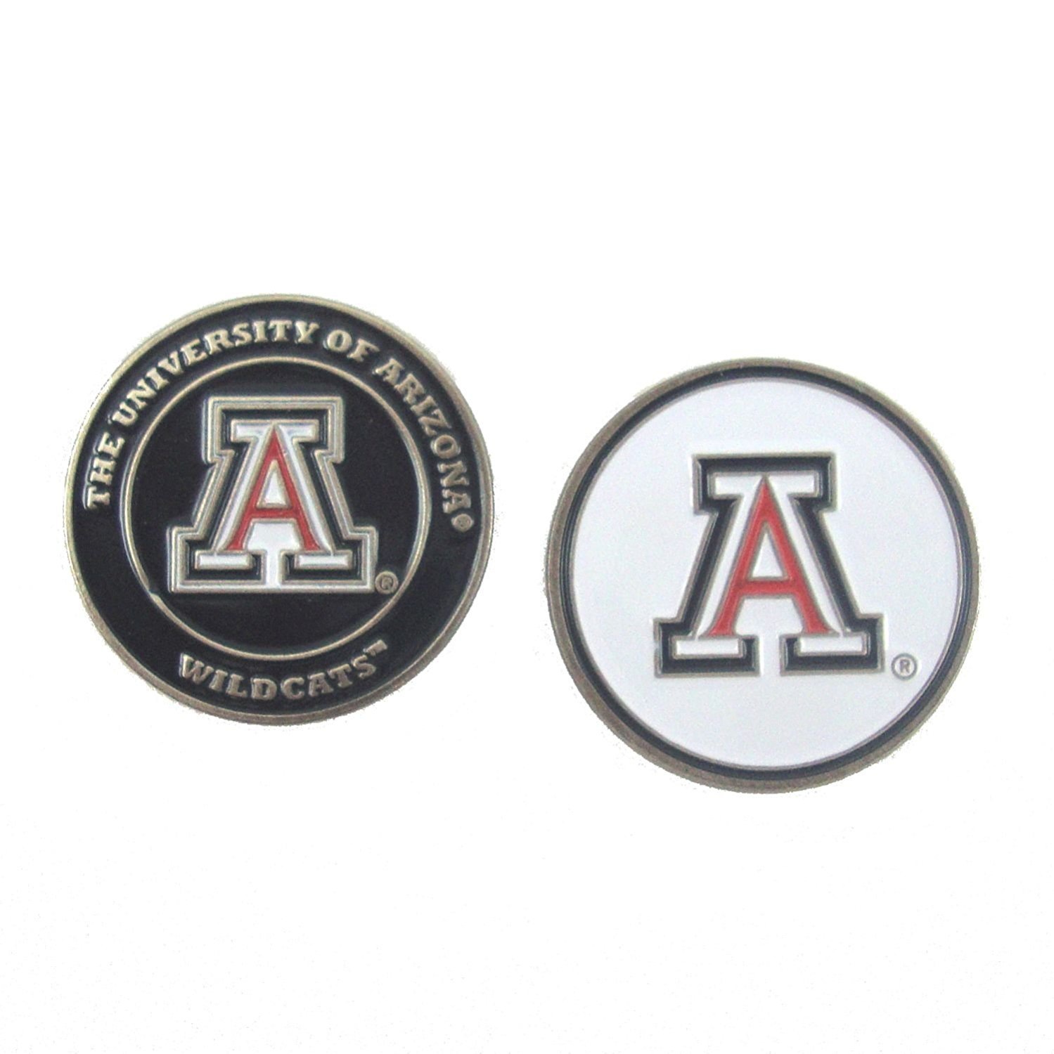 Arizona Wildcats Double-Sided UA Golf Ball Marker, University of Arizona Golf Ball Marker By Waggle Pro Shop,USA