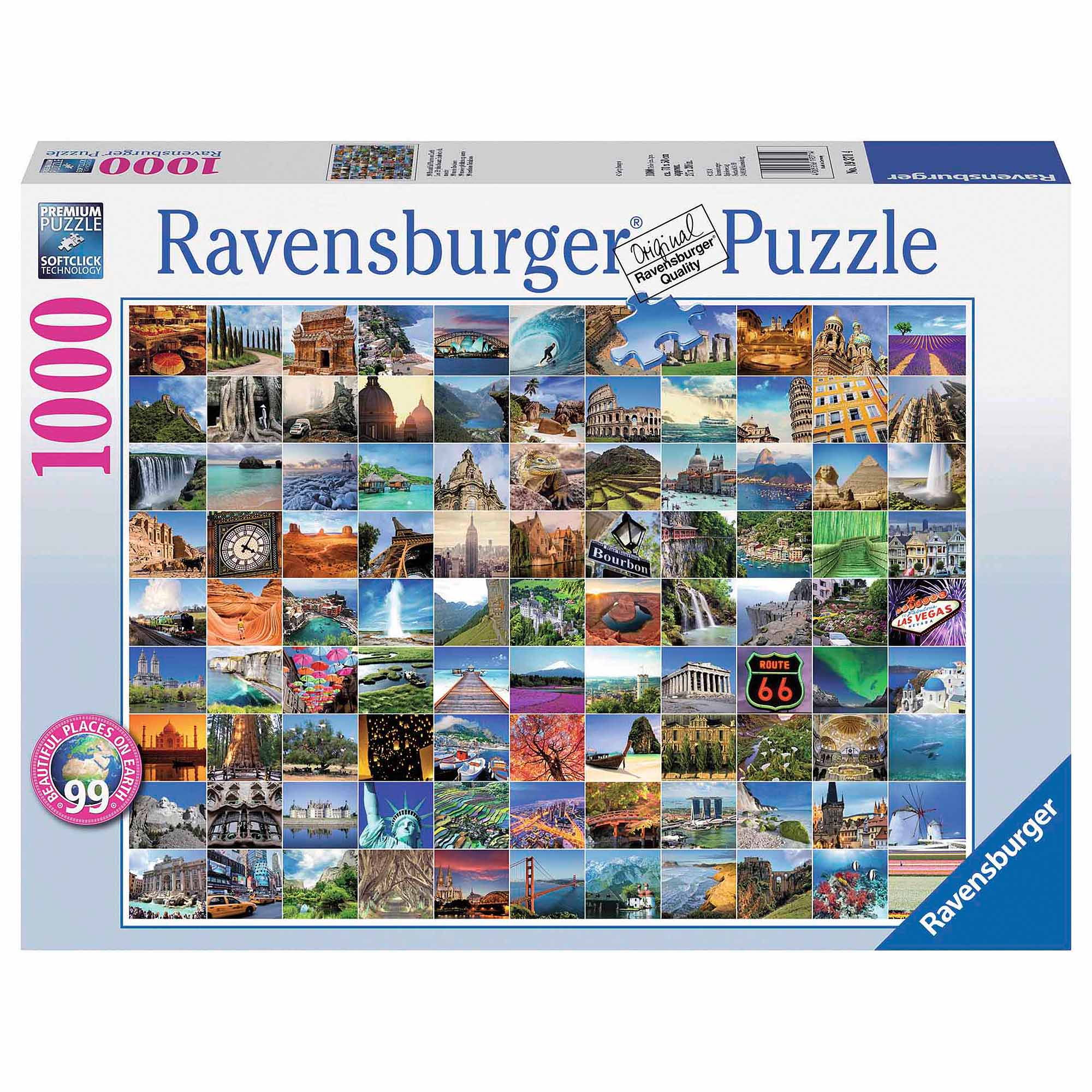 99 Beautiful Places on Earth Puzzle, 1,000 Pieces