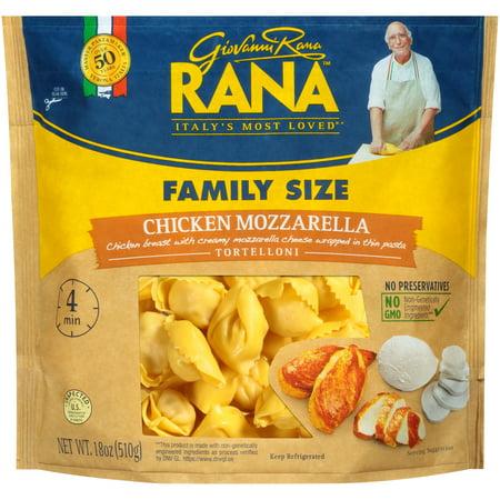 Rana Chicken Mozzarella Tortelloni 18 Oz Walmart