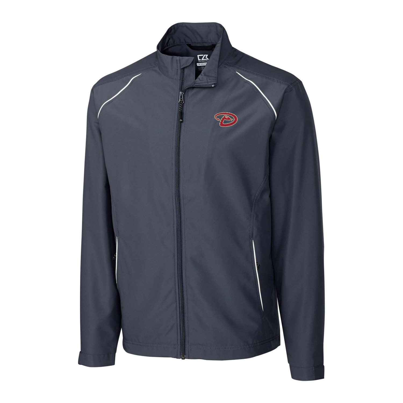 Arizona Diamondbacks Cutter & Buck Big & Tall WeatherTec Beacon Full Zip Jacket - Charcoal