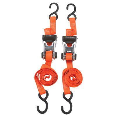 RatchetX Aluminum Tie-Down Straps - 2-Pk., 3,000-Lb. Breaking Strength, Model# 264, Ergonomic flared handle provides maximum leverage when tightening By (Ramsgate Aluminum Strap)