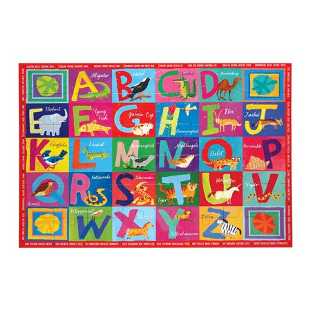 Large Floor Puzzle for Kids, Alphabet ABC, 48 Pieces (3 x 2 feet), For ages 5 years and up By eeBoo