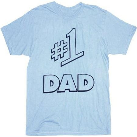 Seinfeld #1 Dad Light Blue Mens T-Shirt - Jerry Seinfeld Puffy Shirt