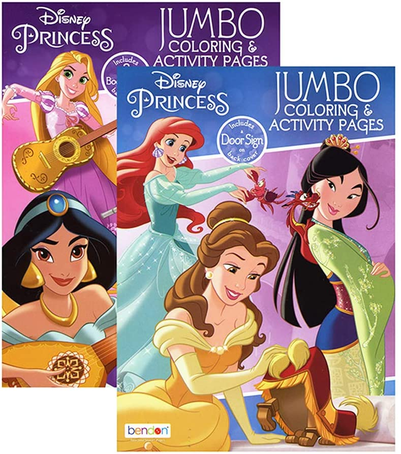 - 2PC Disney Princesses Coloring Book Jumbo Activity Pad Books Kids Children  Girls - Walmart.com - Walmart.com