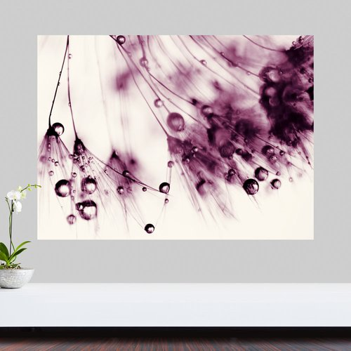 My Wonderful Walls Droplets of Aubergine by Ingrid Beddoes Wall Decal