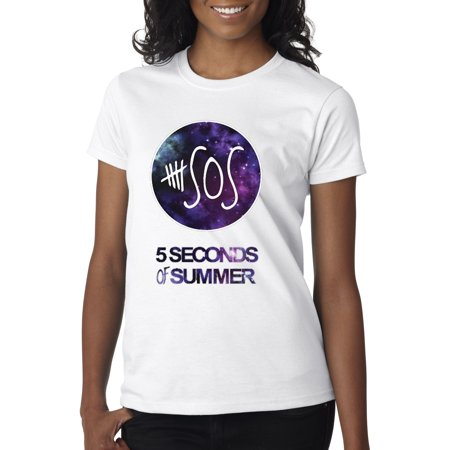 New Way 215 - Women's T-Shirt Sos 5 Seconds Of Summer Band ()
